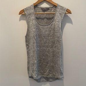 360 Sweater Grey linen Sleeveless Top size small